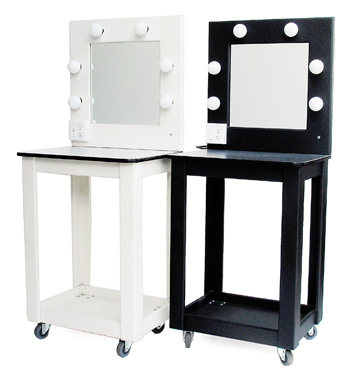 Castex rentals 323 462 1468 equipment rental for the for Black makeup desk